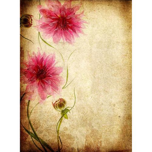 Click Props Backdrops Parchment Flowers Backdrop (7 x 9.5')