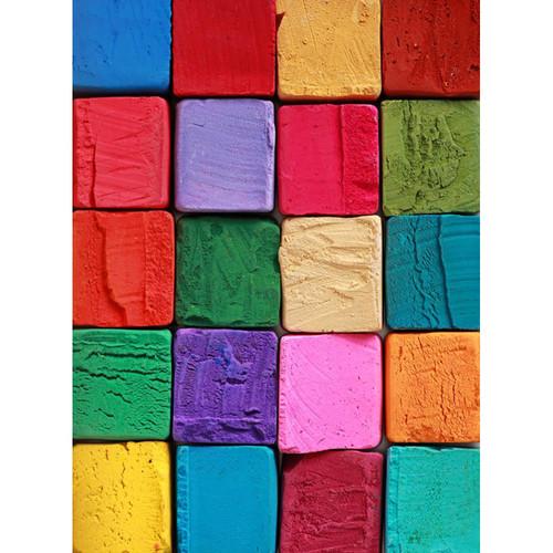Click Props Backdrops Colored Blocks Backdrop (7 x 9.5')