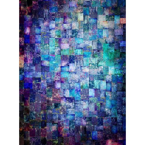 Click Props Backdrops Aqua Mosaic Backdrop (7 x 9.5')