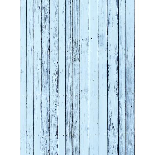 Click Props Backdrops Blue Beach Wood Backdrop (7 x 9.5')