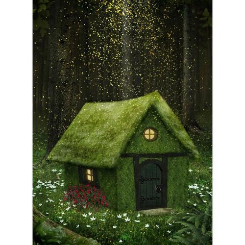 Click Props Backdrops Enchanted Cottage Backdrop (7 x 9.5')
