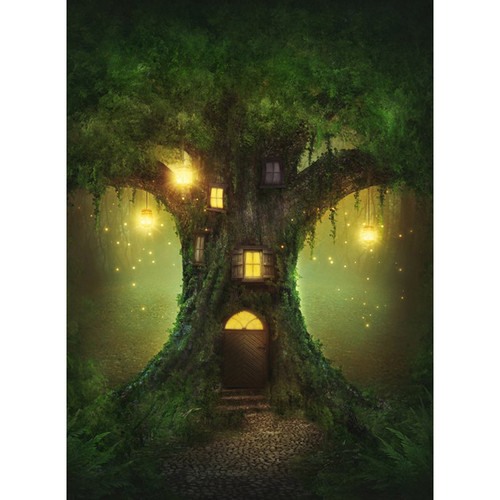 Click Props Backdrops Enchanted Tree Backdrop (7 x 9.5')