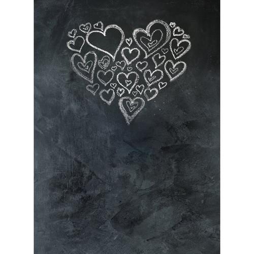 Click Props Backdrops Chalkboard Heart White Backdrop (7 x 9.5')