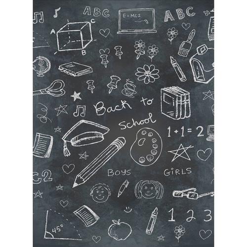 Click Props Backdrops Chalkboard School Backdrop (7 x 9.5')