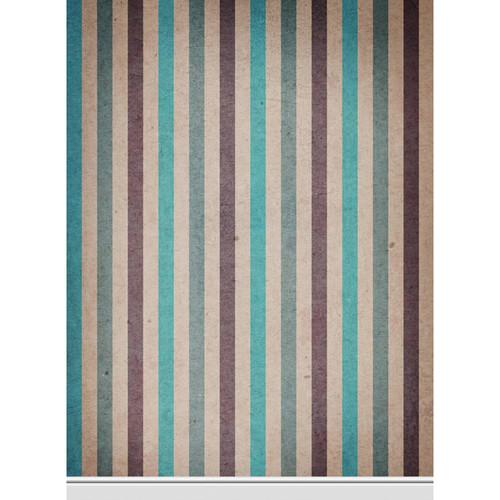 Click Props Backdrops Paper Stripe Teal Backdrop (7 x 9.5')
