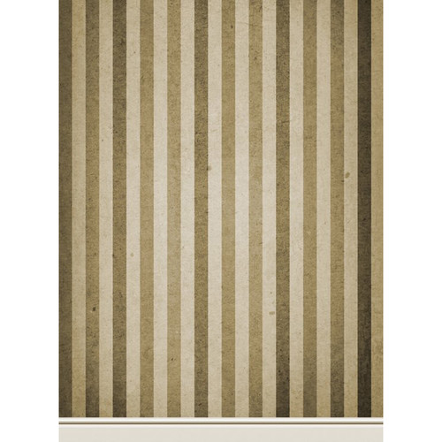 Click Props Backdrops Paper Stripe Brown Backdrop (7 x 9.5')