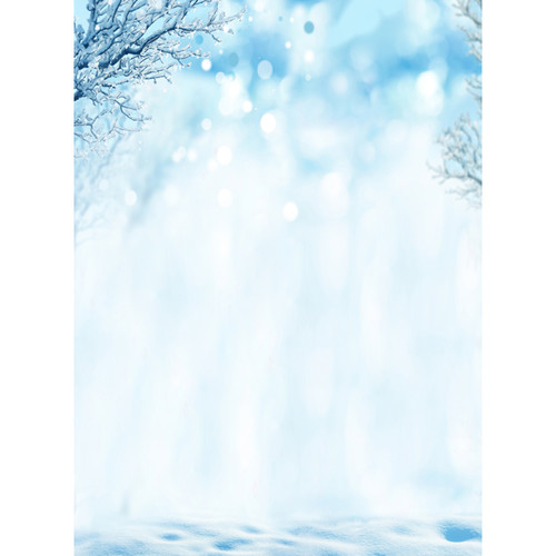 Click Props Backdrops Iced Trees Backdrop (7 x 9.5')