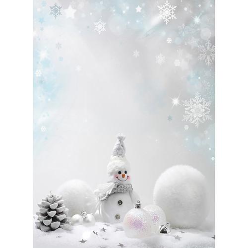 Click Props Backdrops Snowman Backdrop (7 x 9.5')