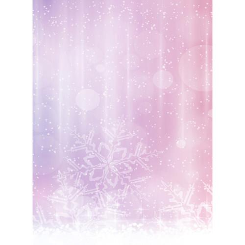 Click Props Backdrops Pink Snowflake Backdrop (7 x 9.5')