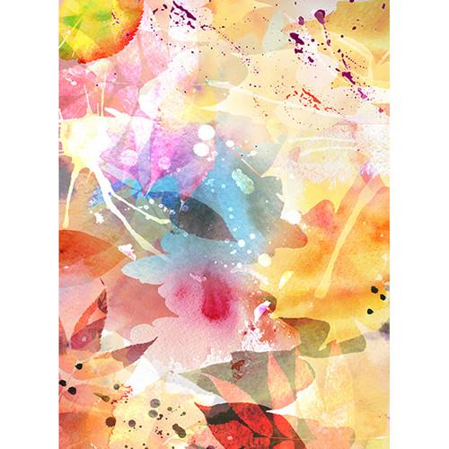 Click Props Backdrops Parchment Flower Pop Backdrop (7 x 9.5')