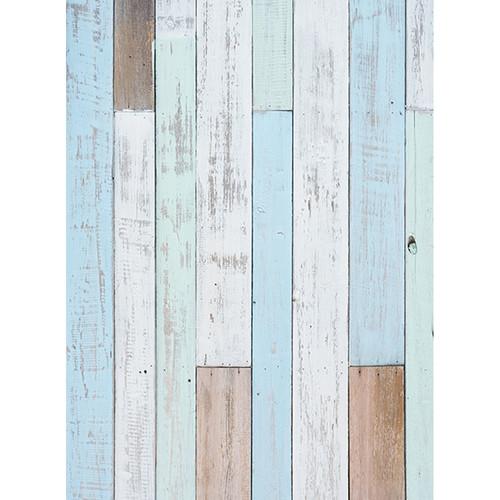 Click Props Backdrops Pastel Blue Decking Backdrop (7 x 9.5')