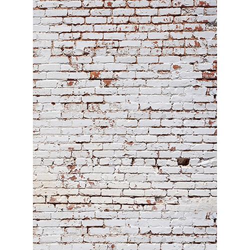 Click Props Backdrops White Painted Brick Wall Backdrop (7 x 9.5')