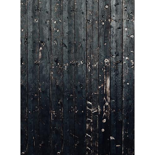Click Props Backdrops Black Wood Plank Backdrop (7 x 9.5')
