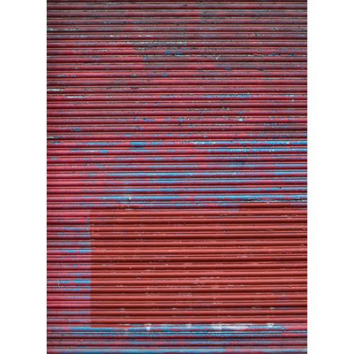 Click Props Backdrops Metallic Red Shutter Backdrop (7 x 9.5')