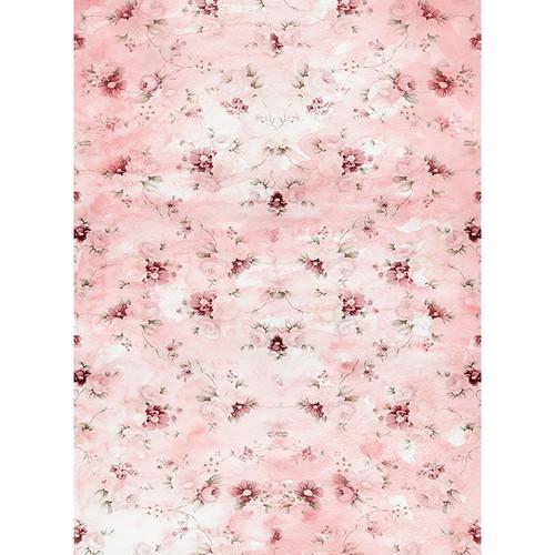 Click Props Backdrops Pink Flower Wallpaper Backdrop (7 x 9.5')