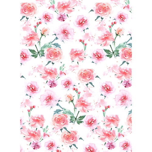 Click Props Backdrops Hand Painted Roses Backdrop (7 x 9.5')