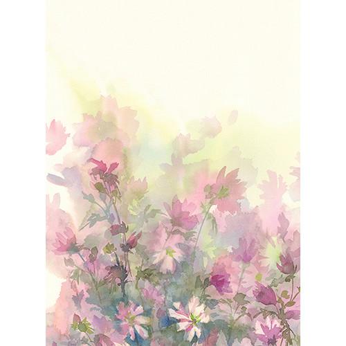 Click Props Backdrops Watercolor Bouquet Pink Backdrop (9.5 x 7')