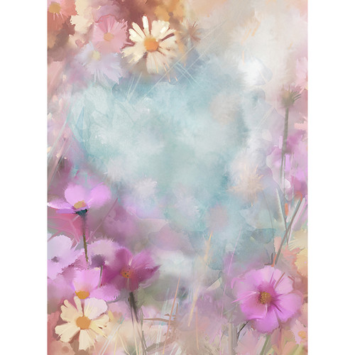 Click Props Backdrops Softened Flowers Backdrop (7 x 9.5')