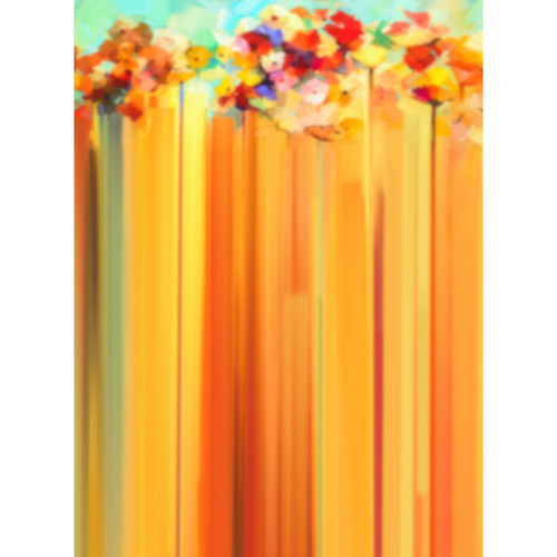 Click Props Backdrops Yellow Flower Streaks Backdrop (9.5 x 7')