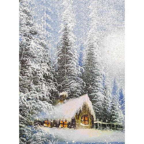 Click Props Backdrops Winter Canvas Backdrop (9.5 x 7')