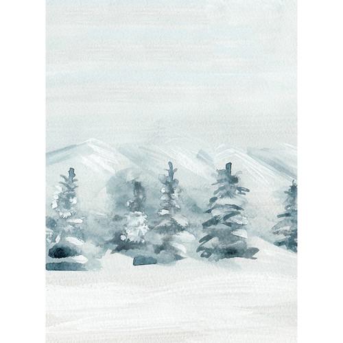 Click Props Backdrops Winter Watercolor Backdrop (7 x 9.5')