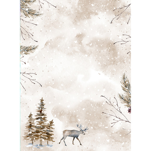 Click Props Backdrops Reindeer Backdrop (9.5 x 7')