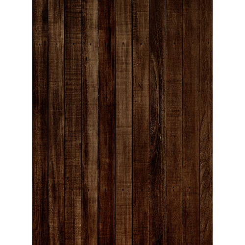 Click Props Backdrops Dark Brown Wood Backdrop (7 x 9.5')
