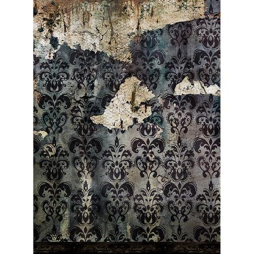 Click Props Backdrops Derelict Damask Gray Backdrop (9.5 x 7')