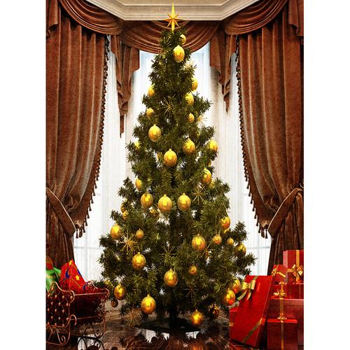 Click Props Backdrops Grand Christmas Tree Backdrop (9.5 x 7')