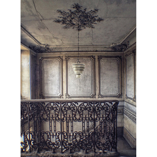 Click Props Backdrops Abandoned Staircase Backdrop (7 x 9.5')