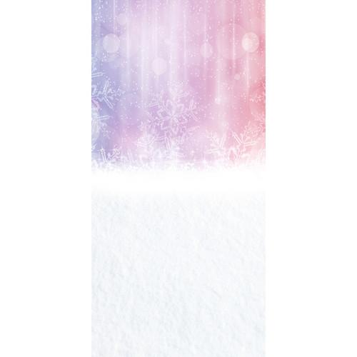 Click Props Backdrops Pink Snowflake Bokeh Backdrop (5 x 9.8')