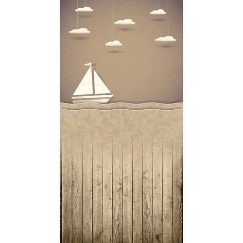 Click Props Backdrops Paper Ship Brown Backdrop (5 x 9.8')