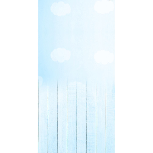Click Props Backdrops Baby Clouds Blue Backdrop (5 x 9.8')