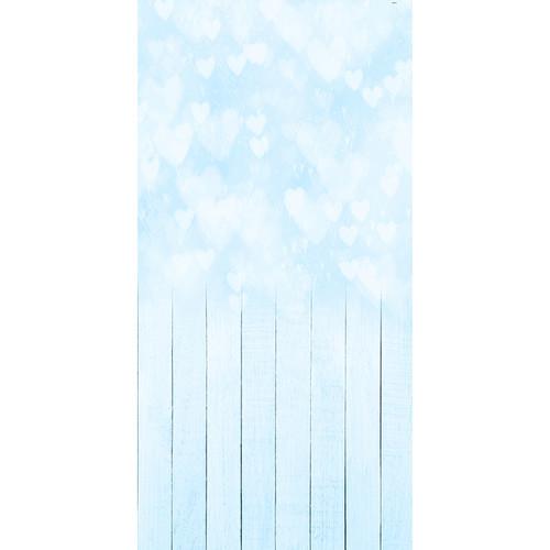 Click Props Backdrops Bokeh Hearts Blue Backdrop (5 x 9.8')
