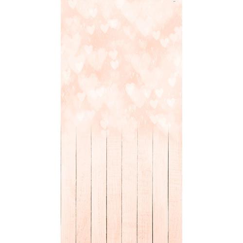 Click Props Backdrops Bokeh Hearts Peach Backdrop (5 x 9.8')