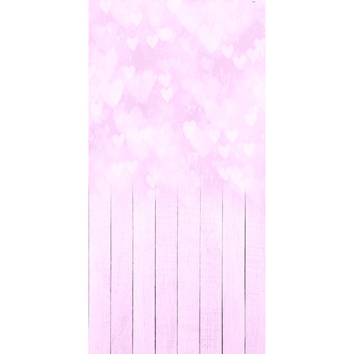 Click Props Backdrops Bokeh Hearts Pink Backdrop (5 x 9.8')
