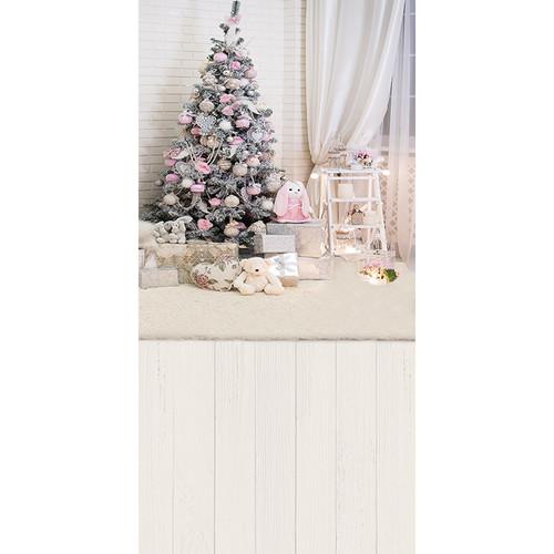Click Props Backdrops Bunny Christmas Backdrop (9.84 x 5')