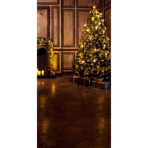 Click Props Backdrops Panelled Christmas Backdrop (5 x 9.8')