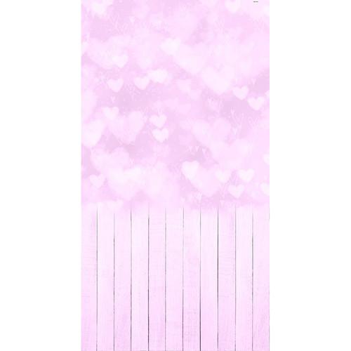 Click Props Backdrops Bokeh Hearts Pink Backdrop (7 x 13')