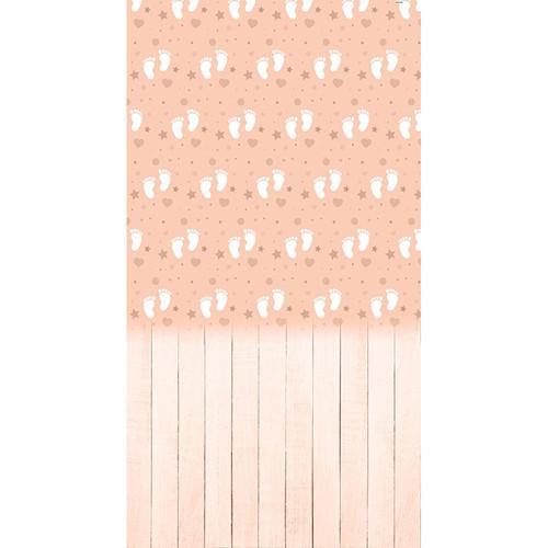 Click Props Backdrops Peach Baby Feet Backdrop (13 x 7')