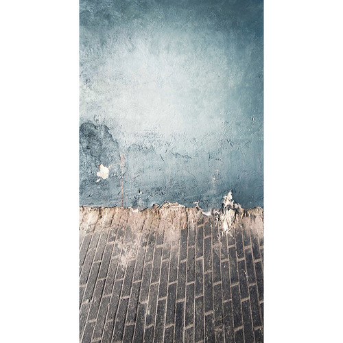 Click Props Backdrops Punchy Blue Plaster Backdrop (13 x 7')