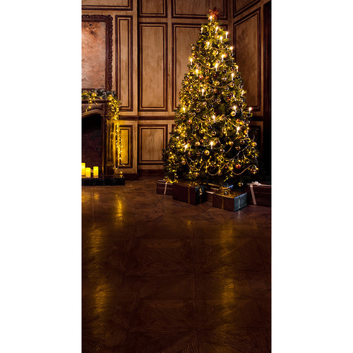 Click Props Backdrops Paneled Christmas Backdrop (7 x 13')