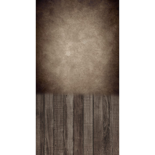 Click Props Backdrops Concrete Mater Brown Boards Backdrop (7 x 13')