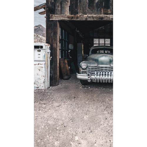 Click Props Backdrops Truck In Hut Backdrop (7 x 13')