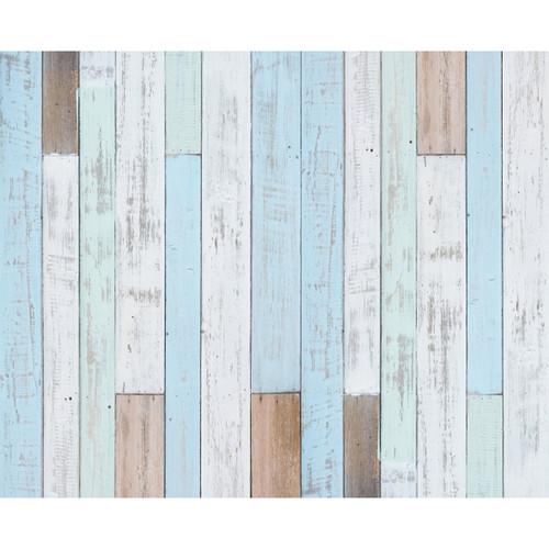 Click Props Backdrops Pastel Blue Decking Backdrop (8 x 9.8')