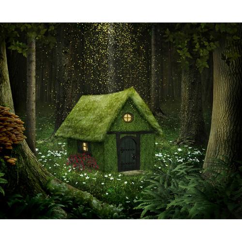 Click Props Backdrops Enchanted Cottage Backdrop (8 x 9.8')