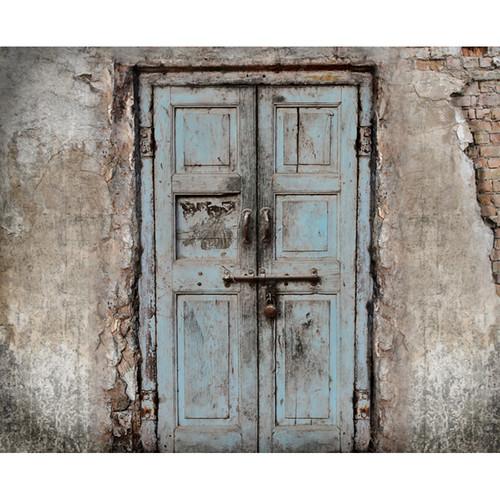 Click Props Backdrops Wooden Door Blue Backdrop (8 x 9.8')