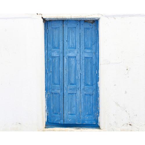 Click Props Backdrops Blue Villa Door Backdrop (8 x 9.8')
