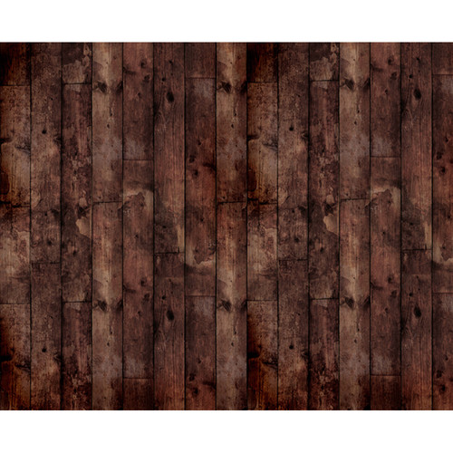 Click Props Backdrops Floor Wood Stained Black Backdrop (8 x 9.8')