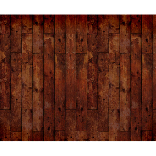 Click Props Backdrops Floor Wood Stained Dark Backdrop (8 x 9.8')